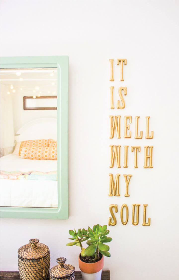 How To DIY Letters On Wall For Living Room