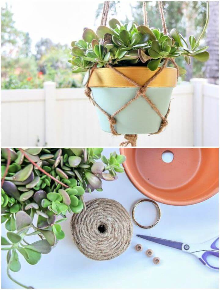 How To DIY Macramé Plant Hanger for First Timers