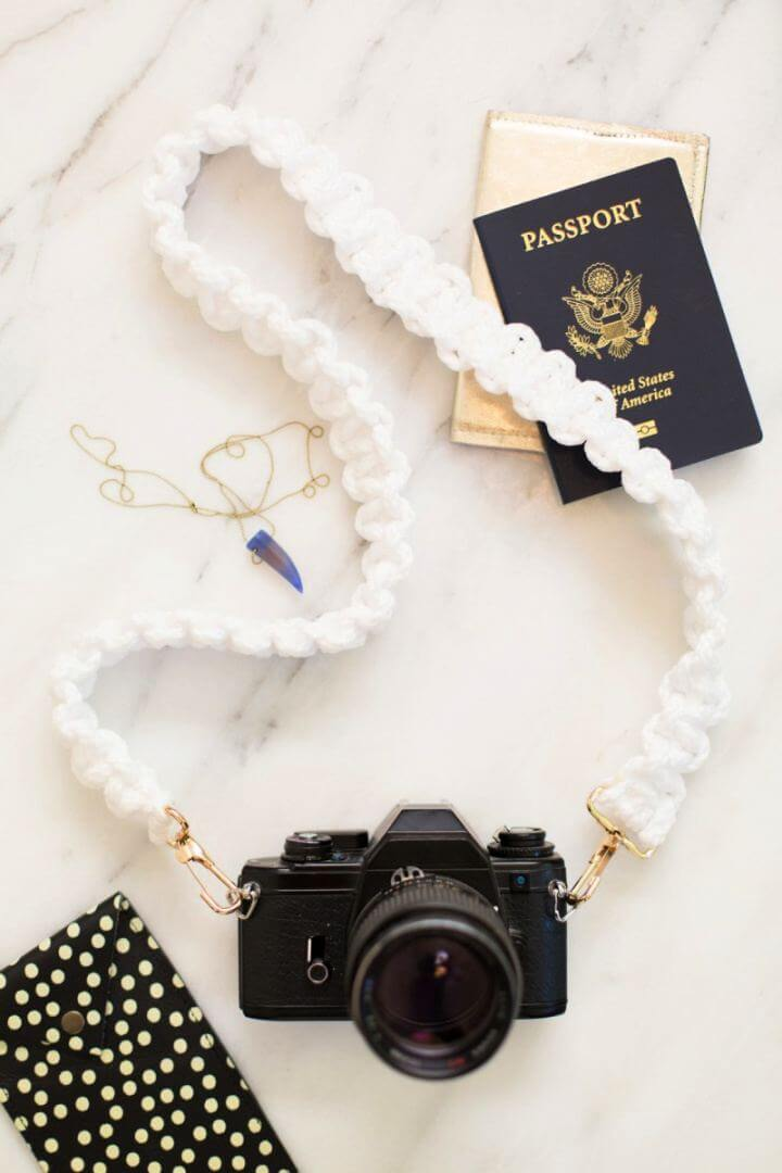 How To DIY Macrame Camera Strap