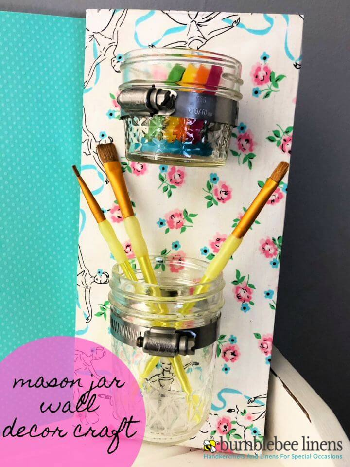 How To DIY Mason Jar Wall Decor Craft