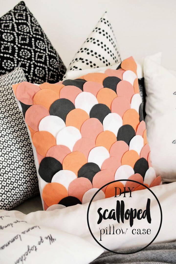 How To DIY No Sew Scalloped Pillow Case