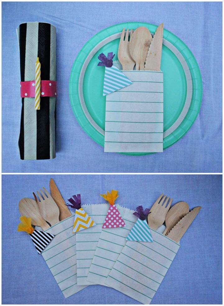 How To DIY Party Hat Utensil Holders