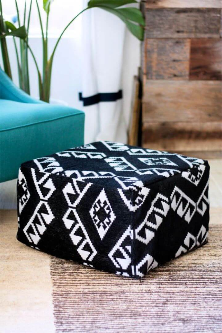 How To DIY Pouf For Bedroom Step By Step Tutorial