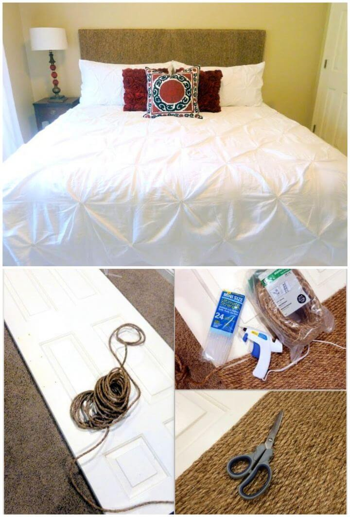 How To DIY Rope Headboard Tutorial