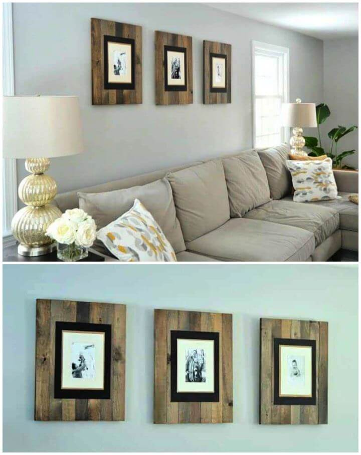 How To DIY Rustic Picture Frame