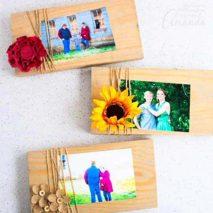 How To DIY Scrap Wood Picture Frames