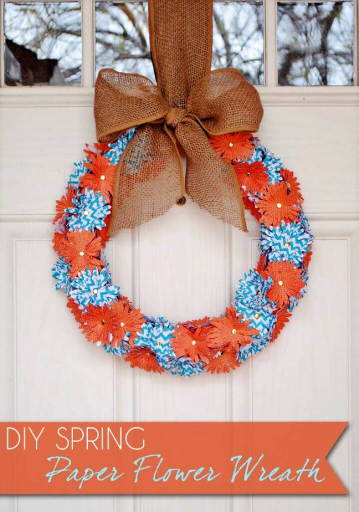 How To DIY Spring Paper Flower Wreath