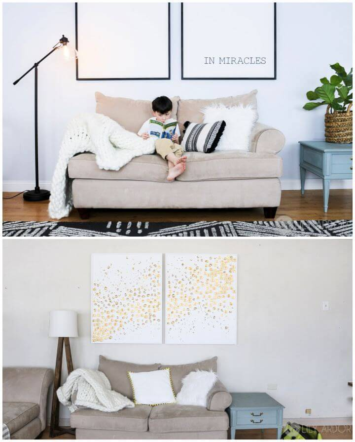 How To DIY Wall Art For Large Blank Walls