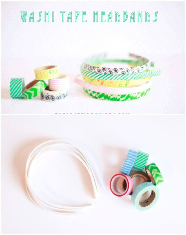 How To DIY Washi Tape Headbands Gift