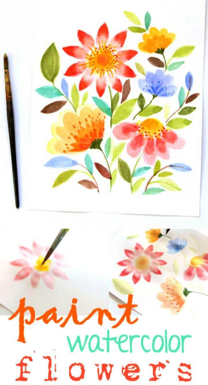 watercolors, watercolor art, paintings, diy ideas, watercolor tutorial diy,