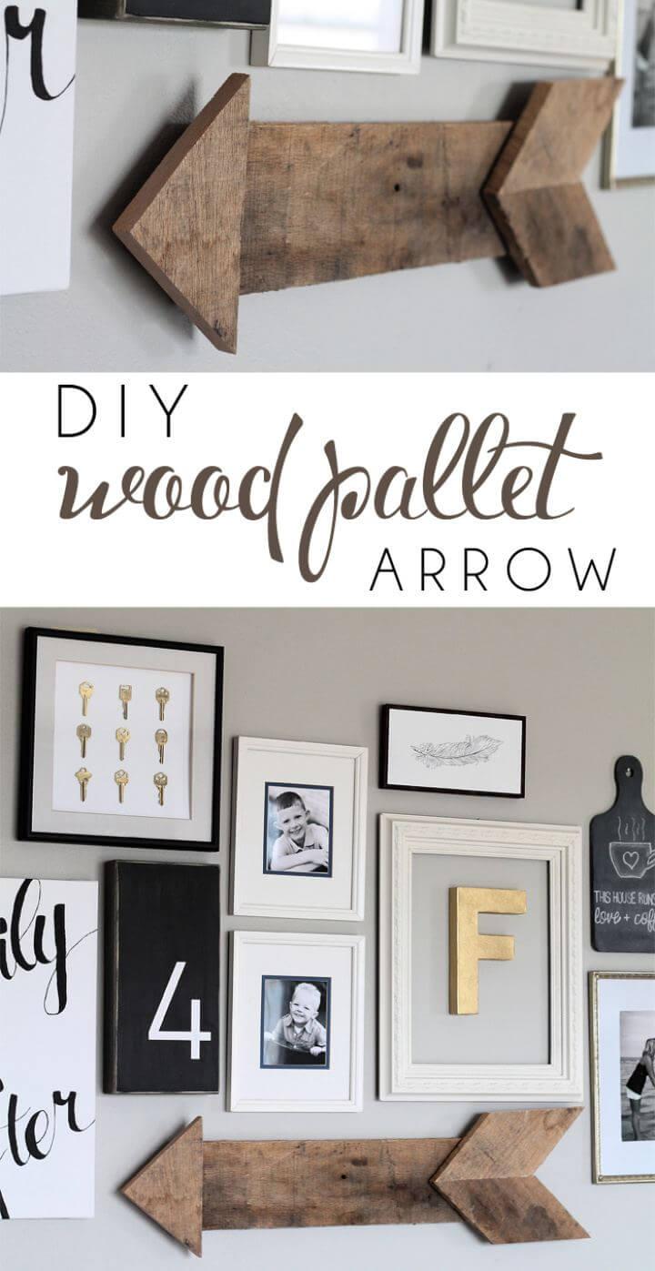How To DIY Wood Pallet Arrow