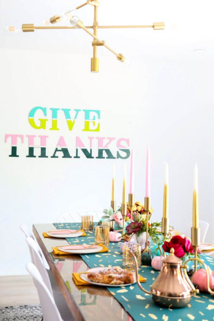 How To Give Thanks Color Blocked Wall Art