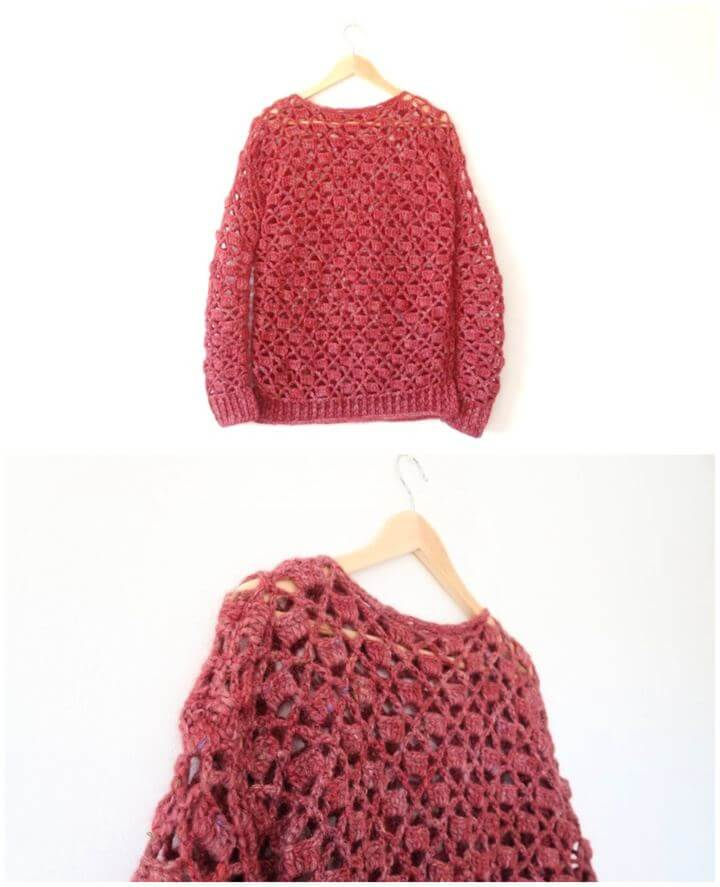 How To Make A Crochet Openwork Sweater