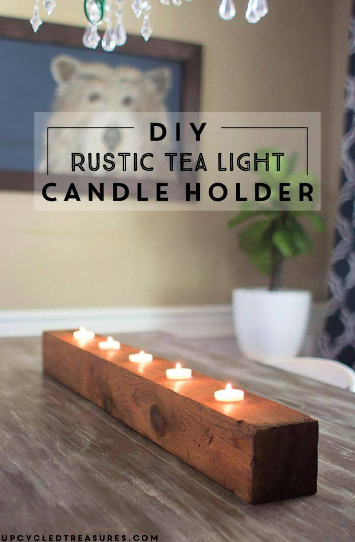 How To Make A DIY Rustic Tea Light Candle Holder