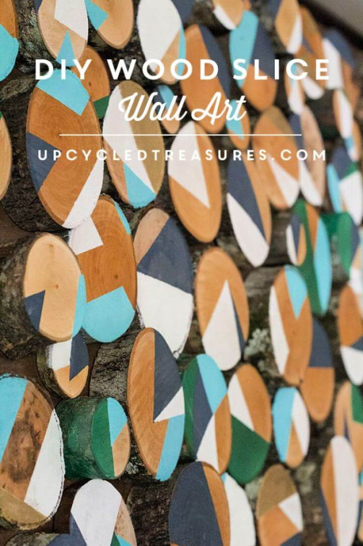 How To Make A DIY Wood Slice Wall Art