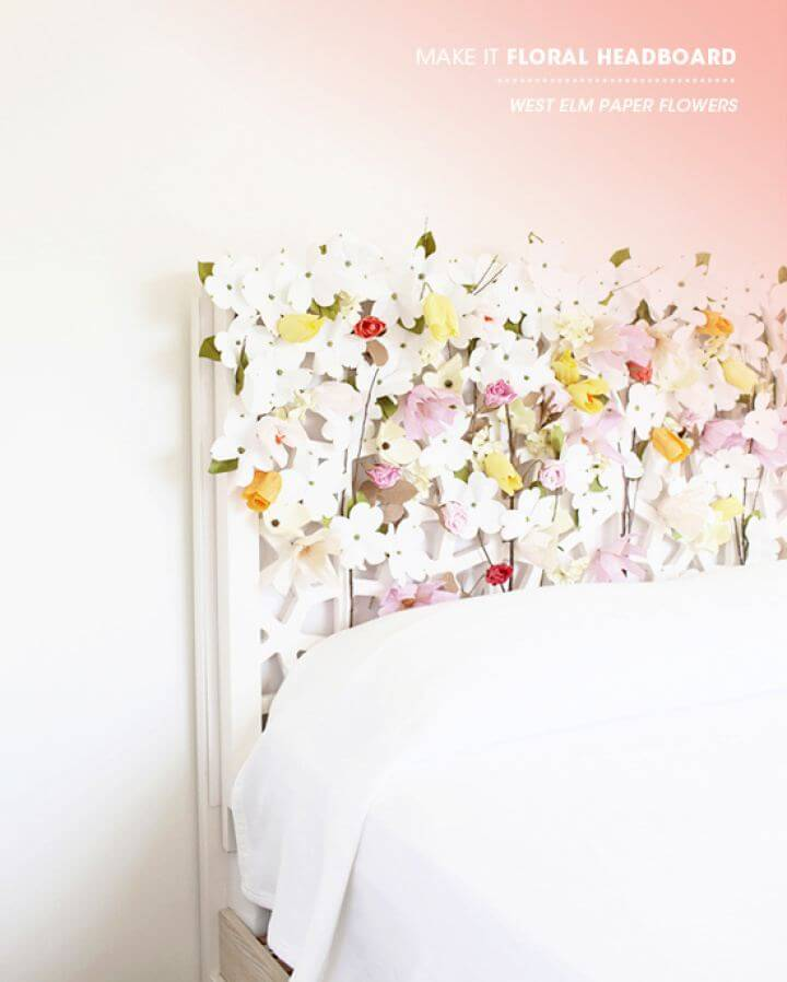 How To Make A Floral Headboard