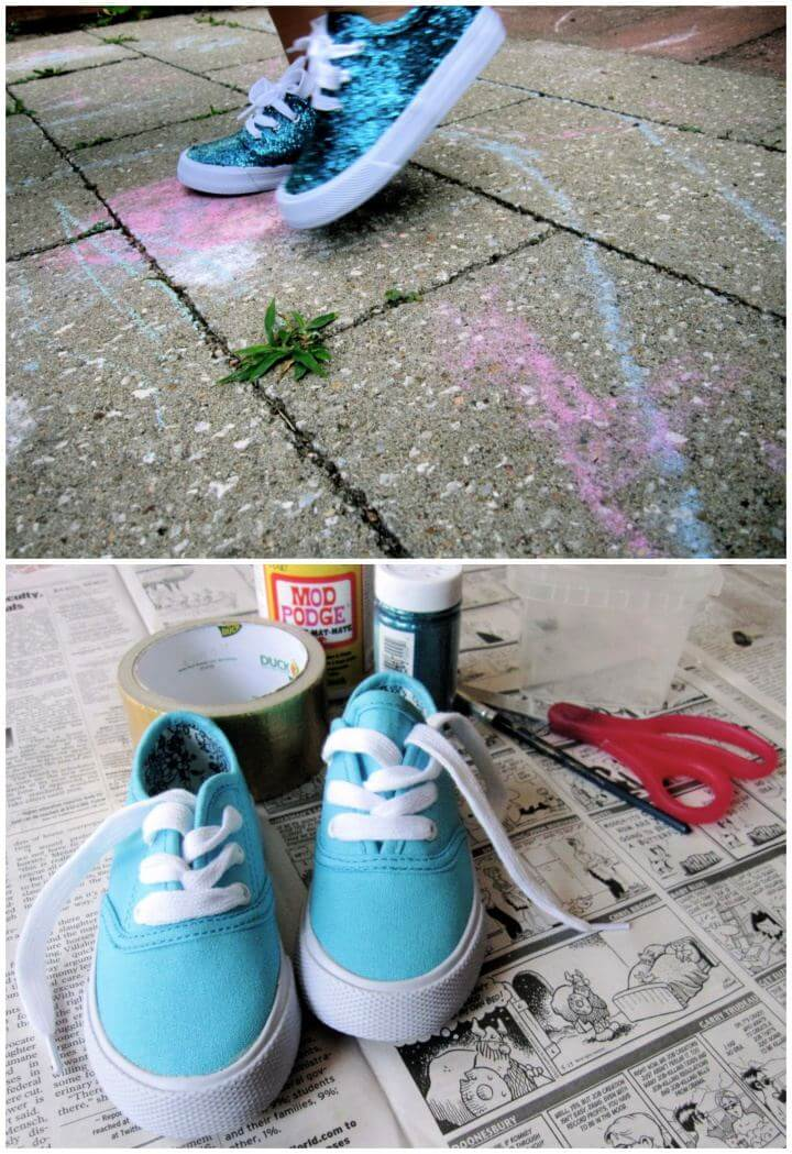 How To Make A Glitter Summer Kicks