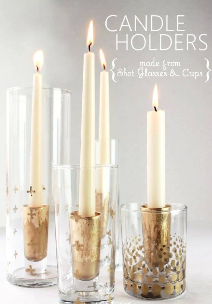 How To Make A Gold Leaf Candle Holders
