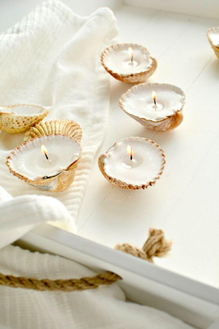 How To Make A Handmade Shell Candles
