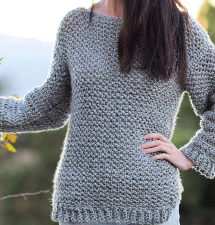 How To Make An Easy Crocheted Sweater
