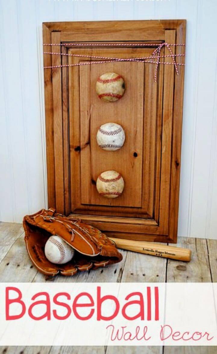 How To Make Baseball Wall Decor Gift For Him
