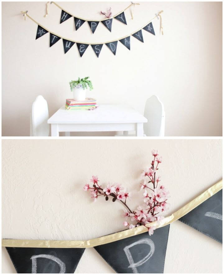 How To Make Chalkboard Banner