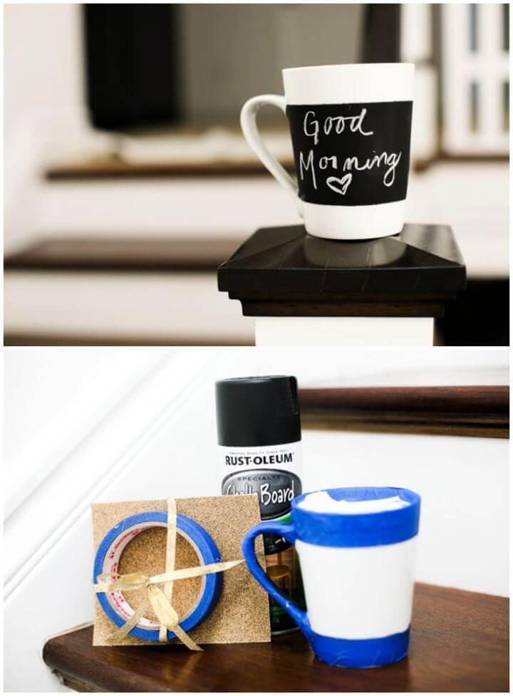 How To Make Chalkboard Mug For Him