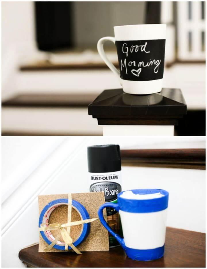 How To Make Chalkboard Mug Gift For Him