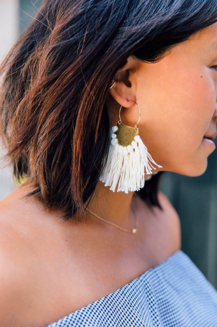 How To Make DIY Brass Fringe Earrings