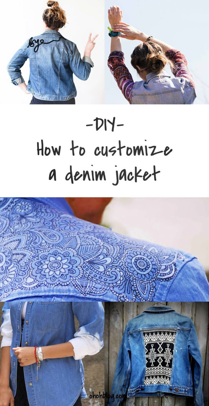 How To Make DIY Customized Denim Jackets
