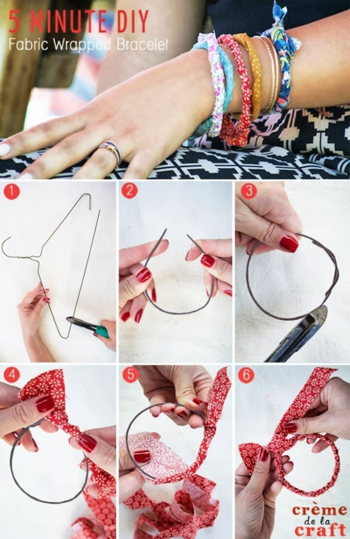 How To Make DIY Fabric Wrapped Bracelet