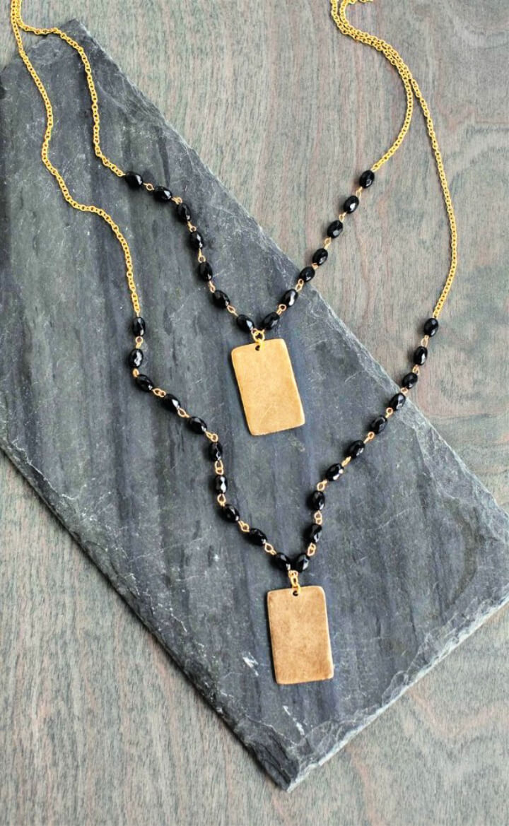 How To Make DIY Fashion Accessories Beaded Pendant Necklace 1