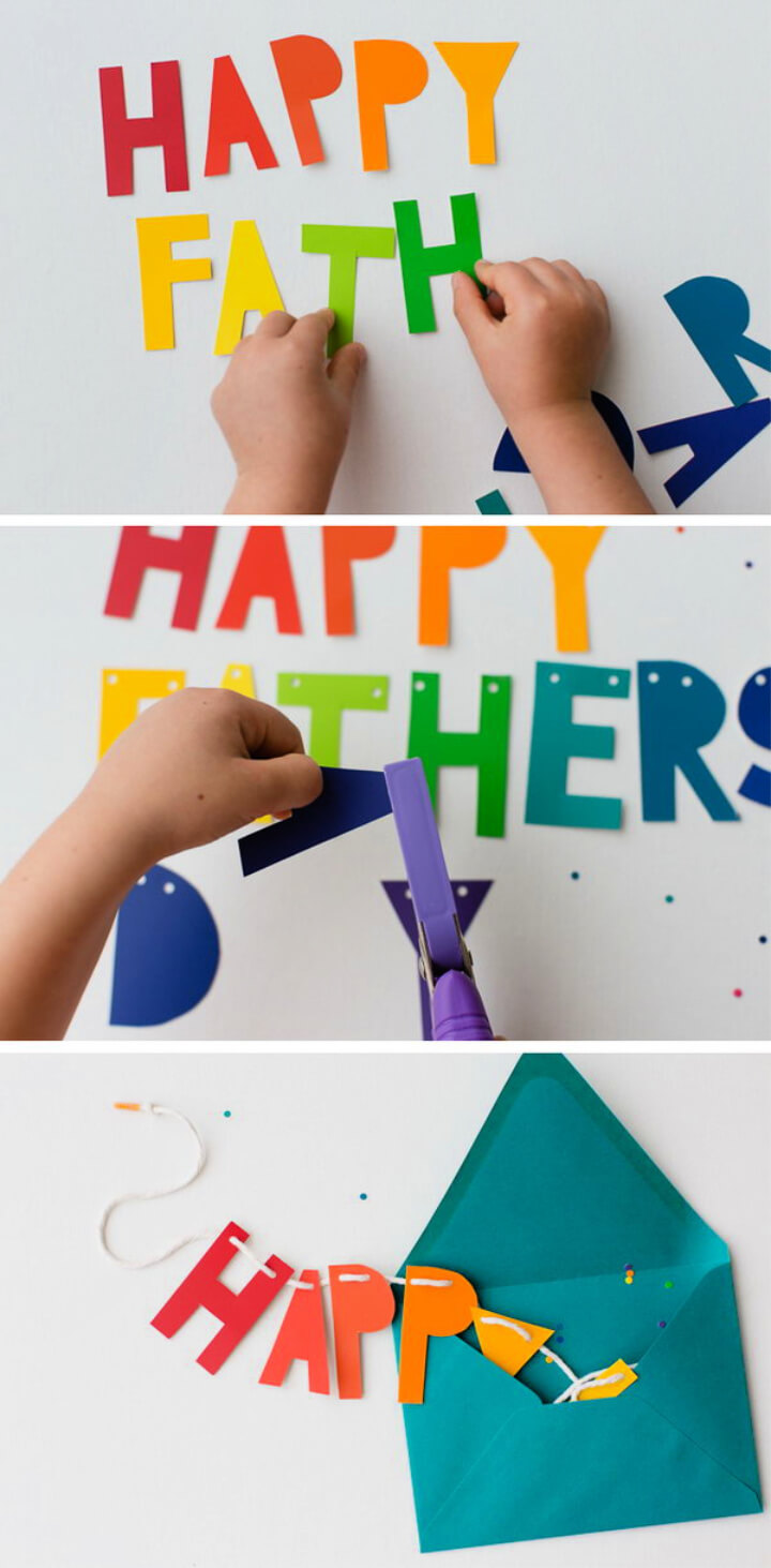 How To Make DIY Father's Day Banner and Card