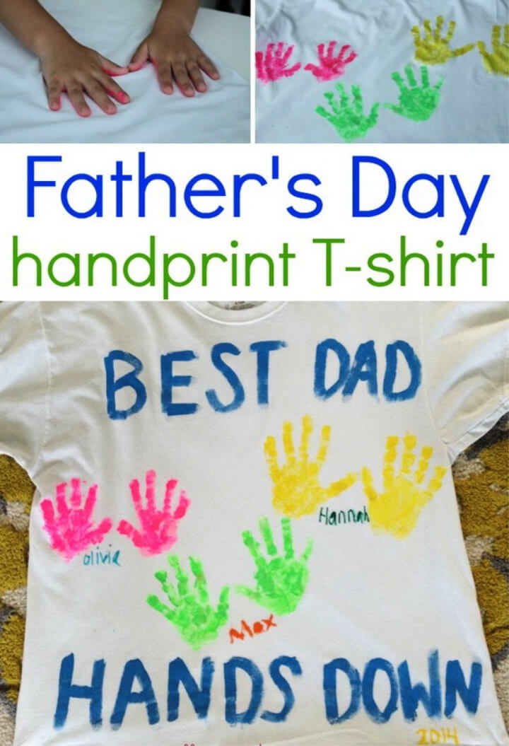 How To Make DIY Father's Day Handprint Shirt