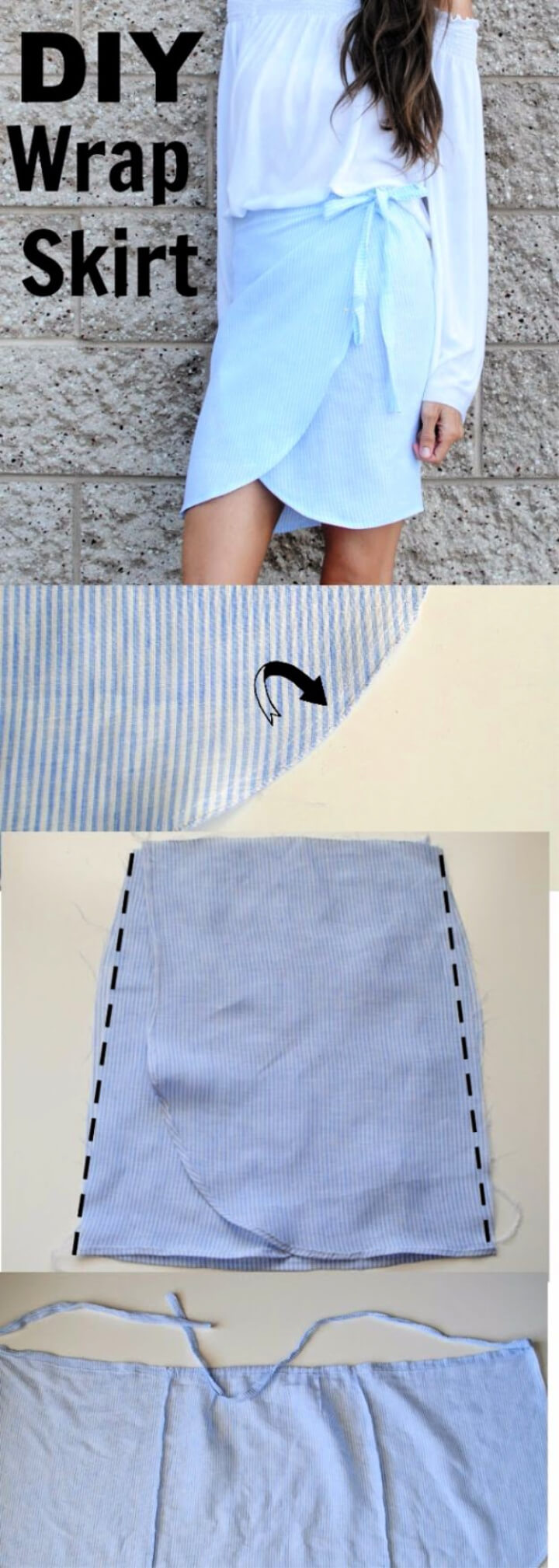 How To Make DIY Linen Tulip Wrap Skirt