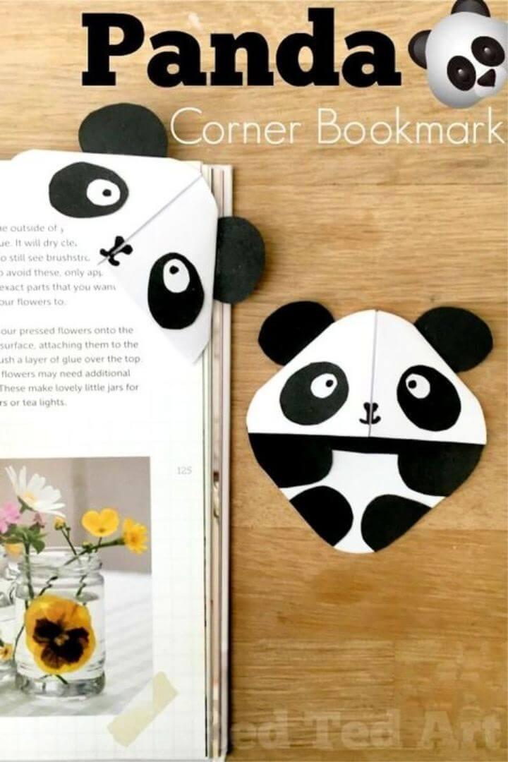 How To Make DIY Panda Bookmark Corner