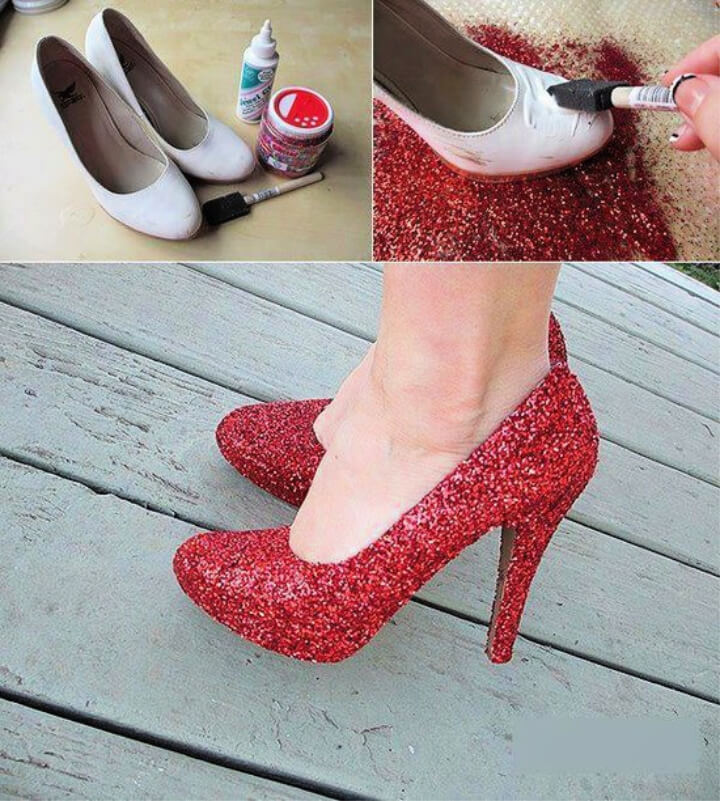 How To Make DIY Stylish Glittery Shoes