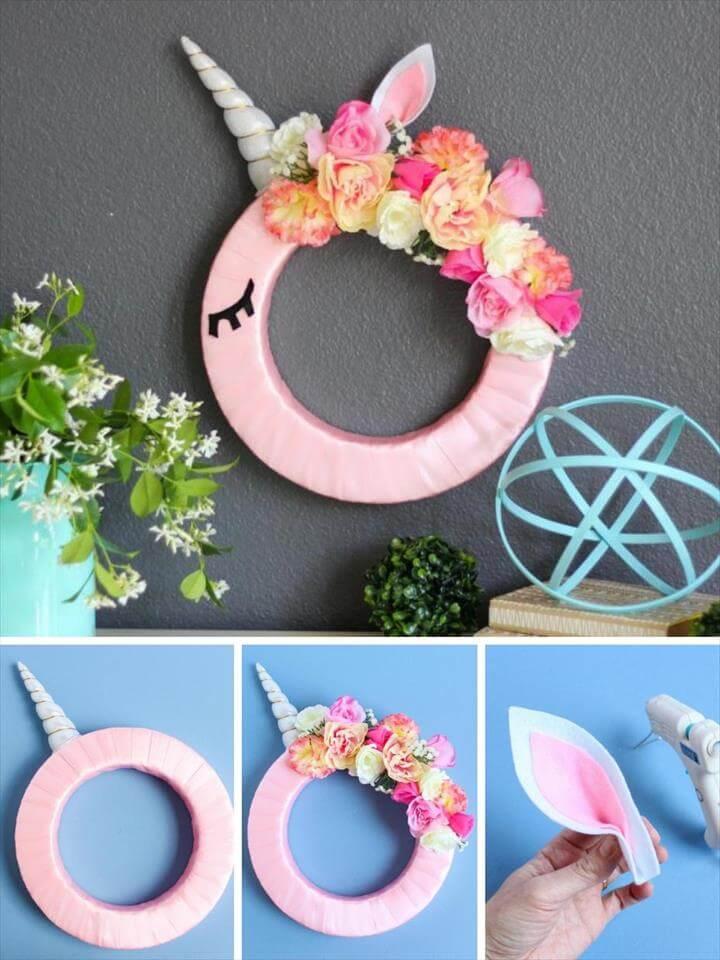 How To Make DIY Unicorn Wreath