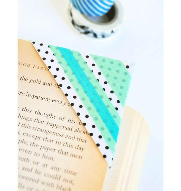 How To Make DIY Washi Tape Bookmarks