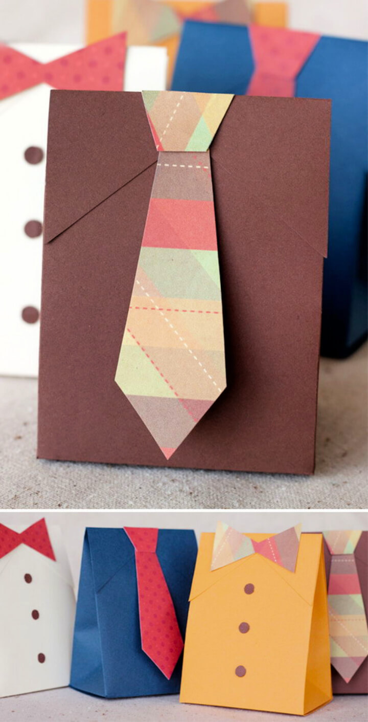 How To Make Dad's Shirt and Tie Gift Boxes