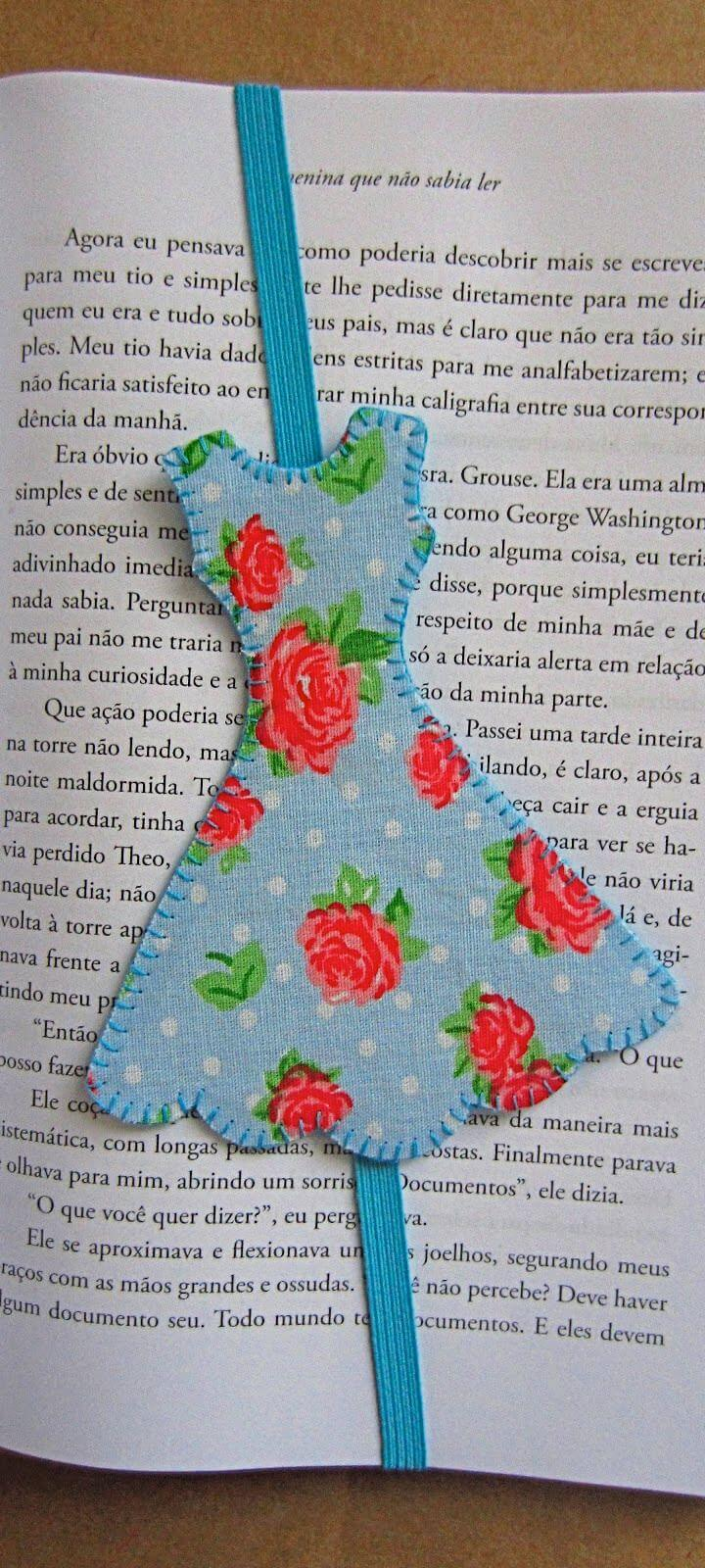 How To Make Dress shaped bookmark with elastic