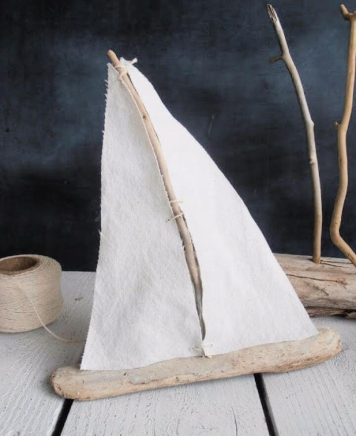How To Make Driftwood Sailboat For Living Room Tutorial