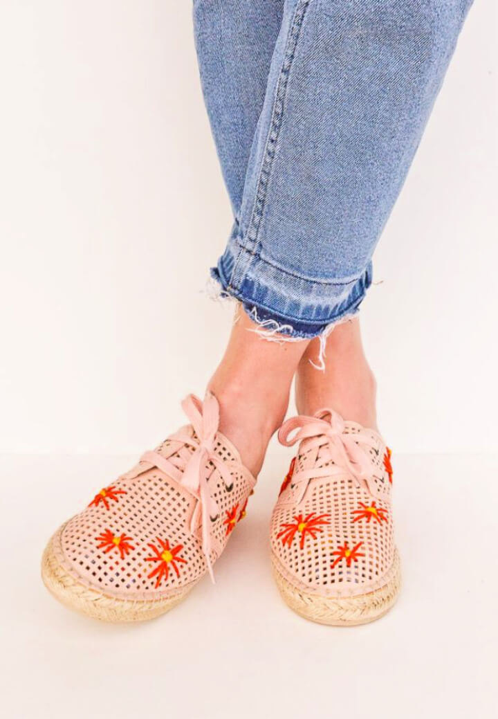 How To Make Embroidered Shoes
