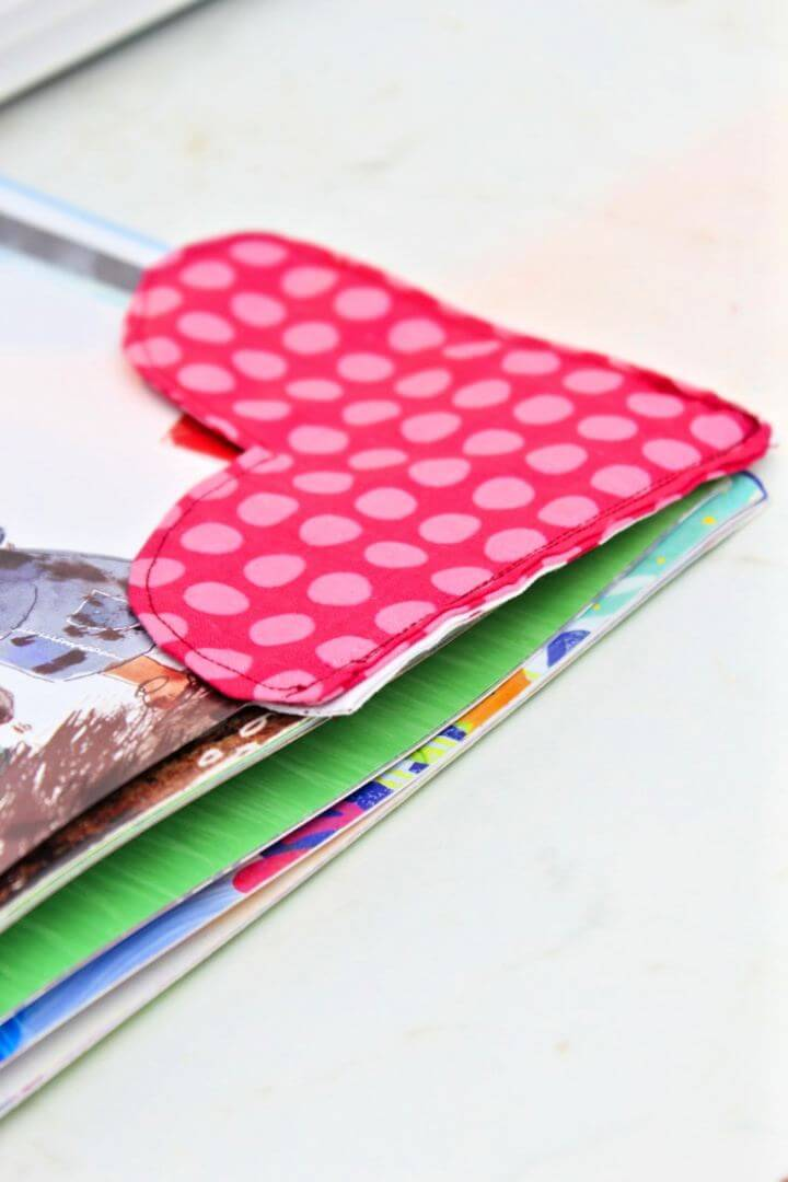 How To Make Fabric Heart Bookmark