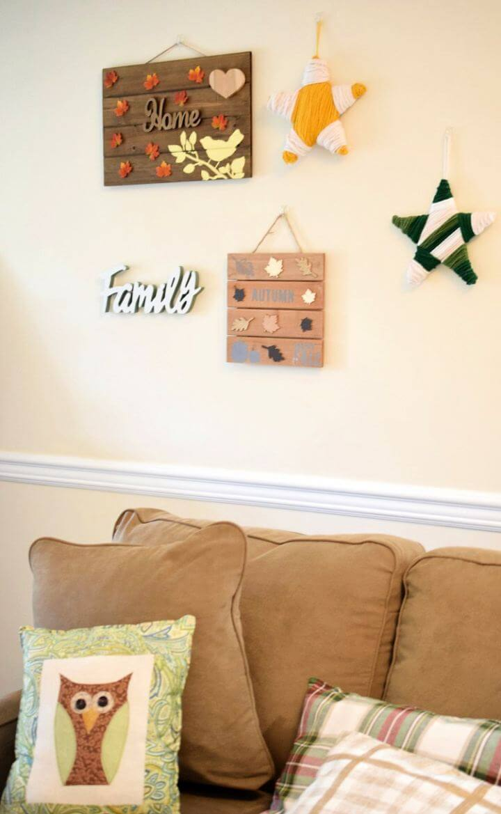 How To Make Fall Gallery Wall Pallet Sign