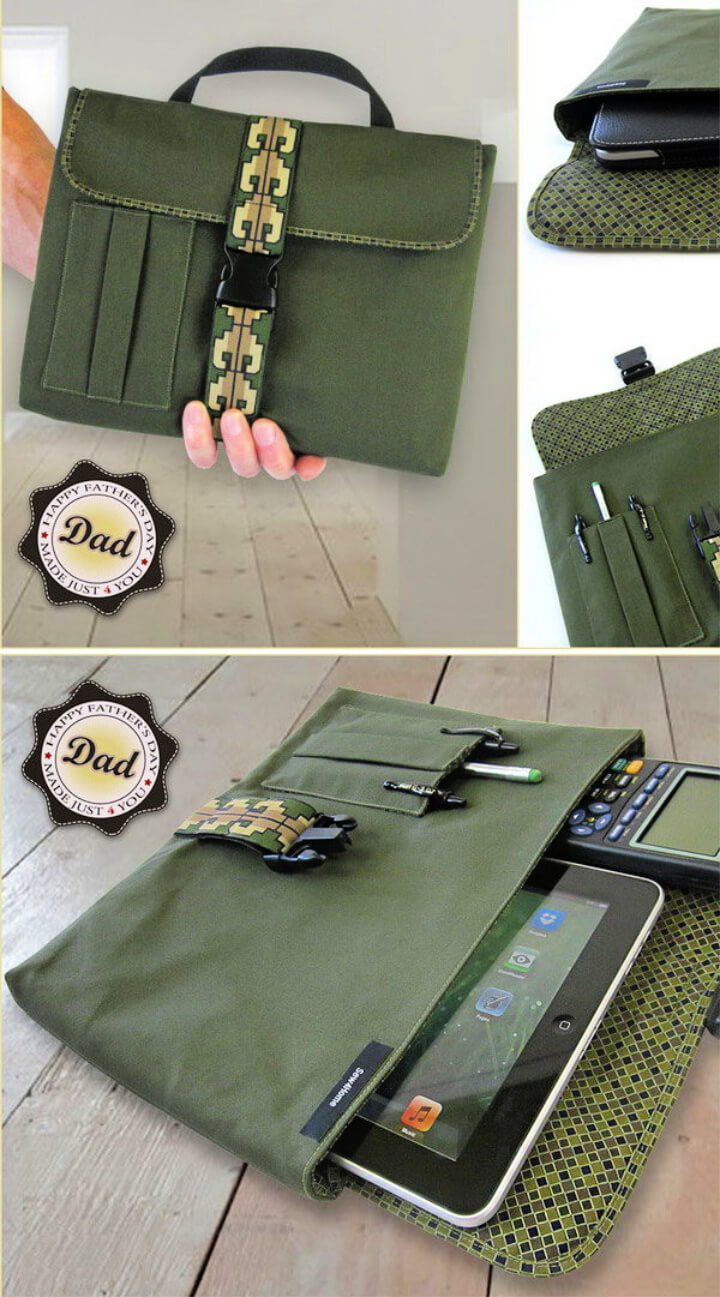 How To Make Fatherday Digital Tablet or Device Sleeve 2