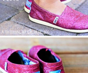 How To Make Glitter Toms