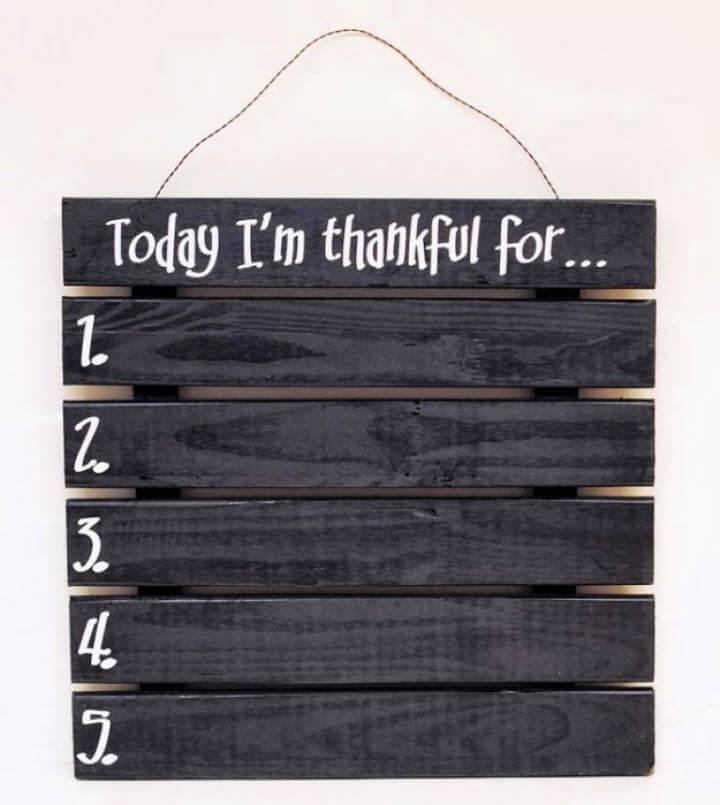 How To Make Gratitude Pallet Wood Sign