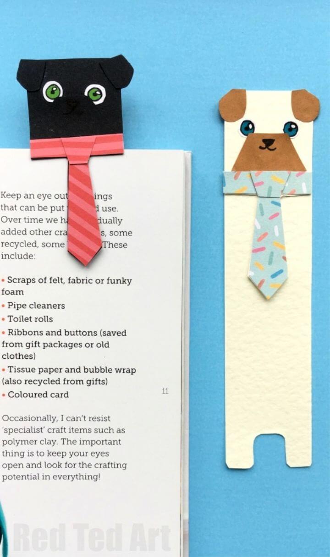 How To Make Hug a Book Pug Bookmark DIY