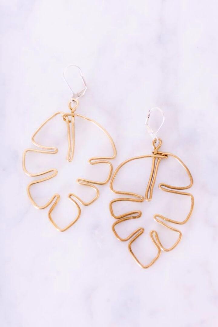 How To Make Leaf DIY Earrings for Spring